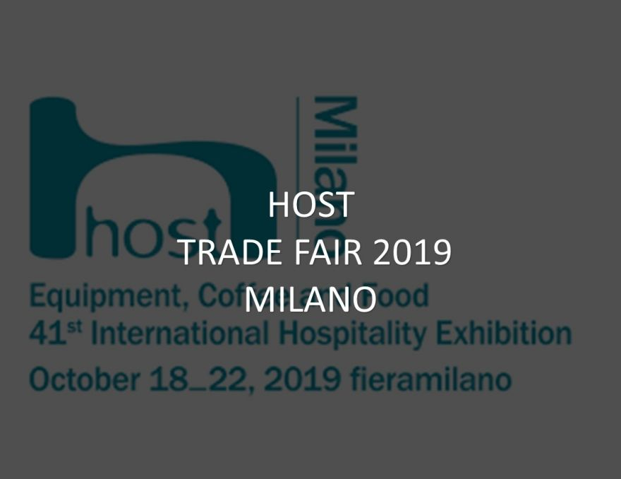 HOST 2019 in Milan 18-22.10.2019
