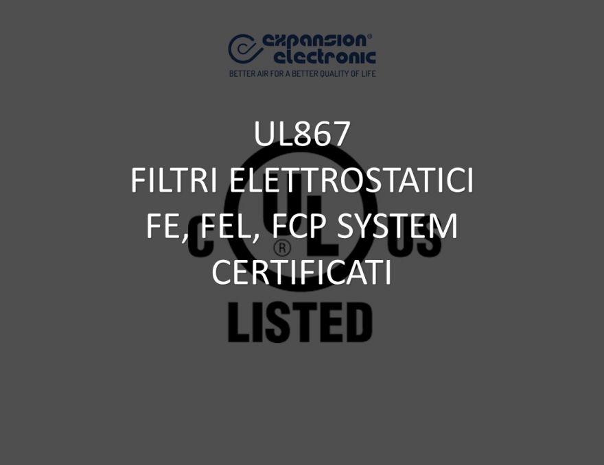 CERTIFICAZIONE UL867 ESPs