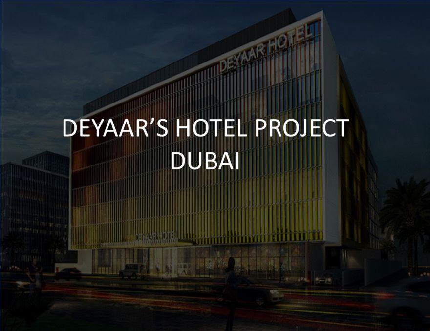 Deyaar's hotel project in Al Barsha, Dubai