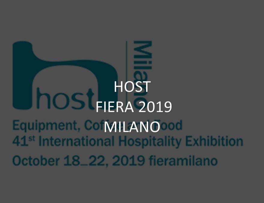 HOST 2019 a Milano 18-22.10.2019